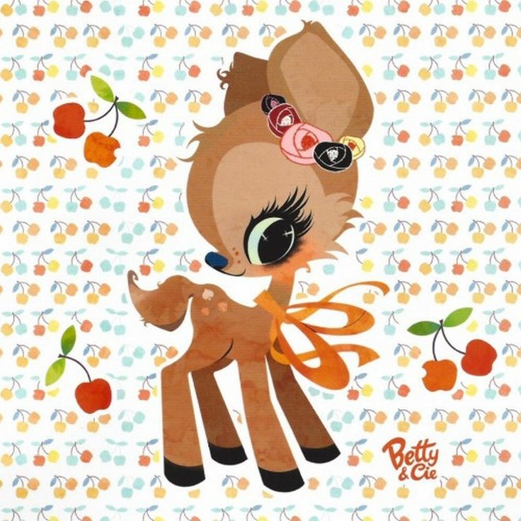 So sweet #deer #card by Betty & Cie from www.kidsdinge.com https://www.facebook.com/pages/kidsdingecom-Origineel-speelgoed-hebbedingen-voor-hippe-kids/160122710686387?sk=wall