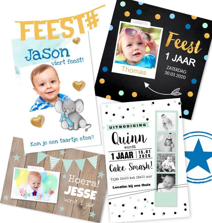 Wordt jouw baby bijna 1 jaar? Wij vonden het leuk om speciaal een uitnodigingskaartje te versturen voor de eerste verjaardag van je jongen. Zo maak je het eerste kinderfeestje  speciaal.