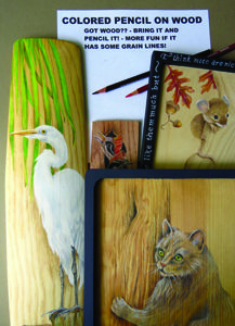 join tina sue norris and learn to use colored pencils on raw wood pieces - Society Of Decorative Painters