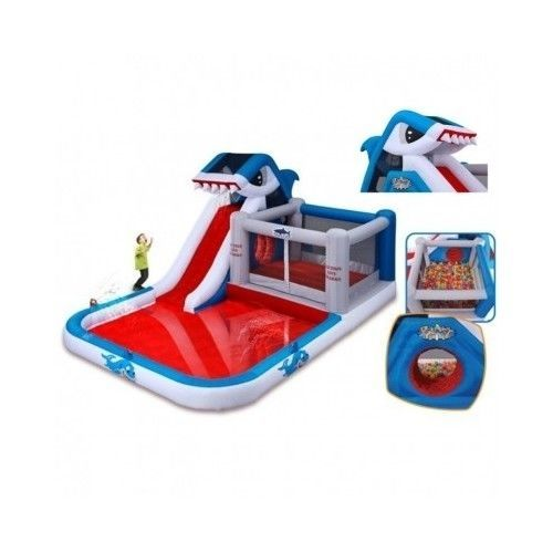 Inflatable-Water-Slide-Bounce-House-Park-Kids-Pool-Party-Backyard-Jumper-Outdoor