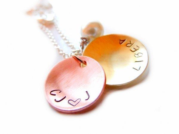 Sale Silver Plated Long Chain Pendant Necklace - with your text