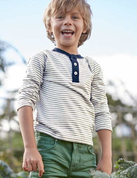 Stripy Henley 21955 Tops & T-shirts at Boden