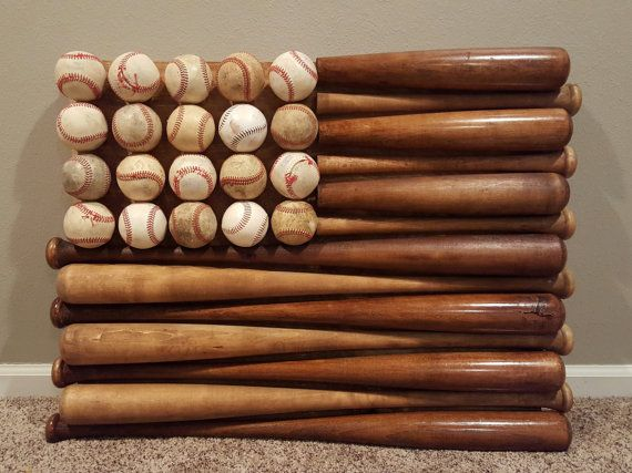 Baseball Bat Flag by BothFeetInTheSand on Etsy                                                                                                                                                      More