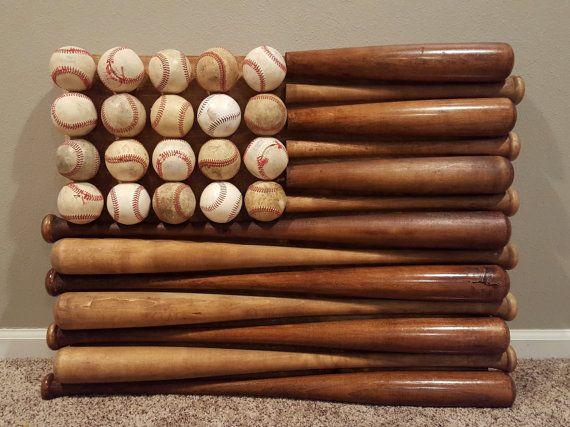 Baseball Bat Flag by BothFeetInTheSand on Etsy                                                                                                                                                      More