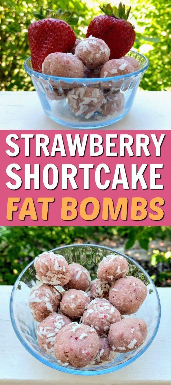 These Strawberry Shortcake Fat Bombs are an awesome keto dessert or keto snack. You'll love this fat bombs recipe! #fatbombs #fatbomb #keto #ketogenic #ketodiet #ketorecipes via @fsugarfriday