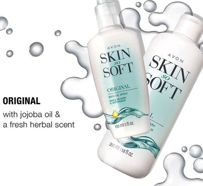 The Original Skin So Soft. Click the link in my profile to find out why Avon Skin So Soft has been a favorite for 56 years! #avon #beauty #healthyskin #lipstick #fragrance #jewlery #fashion #bathandbody #avonbeauty #momlife #workingmom #momboss #momfashion #bosslife #beautyboss #skinsosoft #workfromhome #workfromhomemom #beautyblog #beautyfavorites #makeupblog #makeuptips #makeuplove #makeupaddict #makeuplook #beautyguru #beautyblogger #beautyproducts #beautymakeup #mompreneur