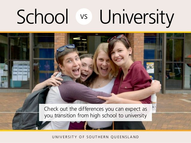 What is the difference between high school and university?