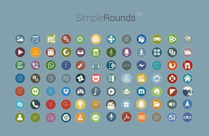 Simple Rounds Lite - Icon Pack - screenshot