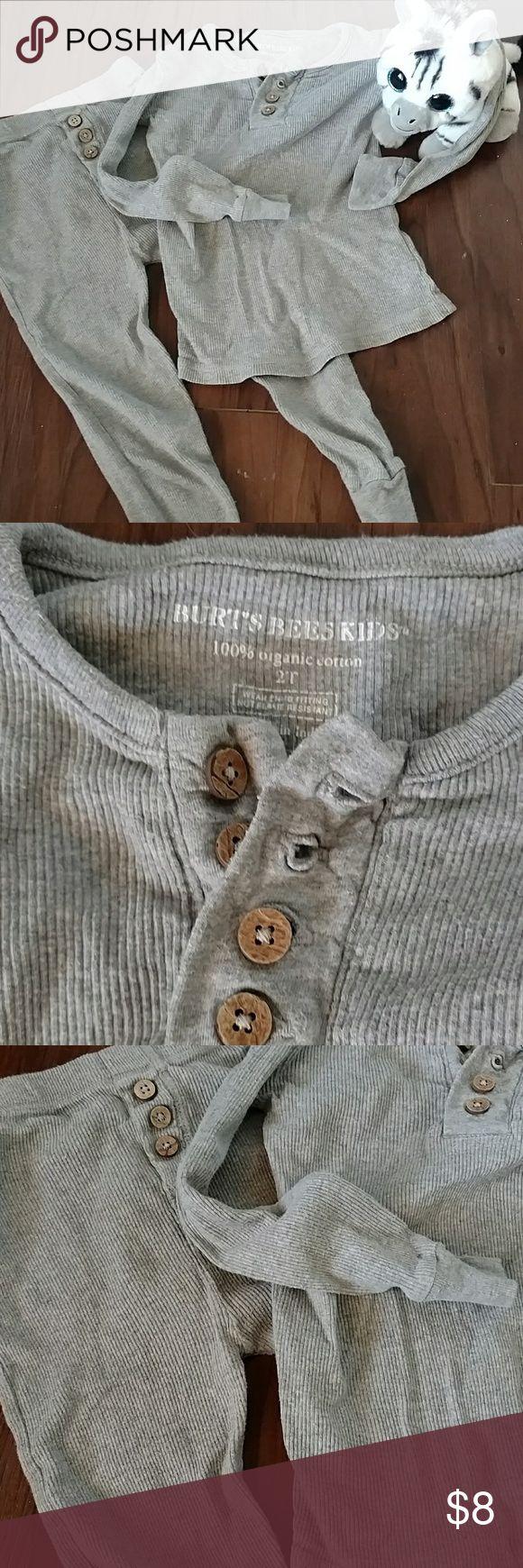 Burt's Bees pajamas Adorable Burt's Bees jammies. %100 organic cotton  🐝EUC (tiny rust spot from safety pin on back of pants -pic #4) 🐝Smoke free 🐝Please... no offers below $5 unless you are bundling. Burt's Bees Baby Pajamas Pajama Sets