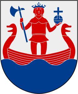 Coat of arms of Torshälla stad, now part of Eskilstuna Municipality, Sweden