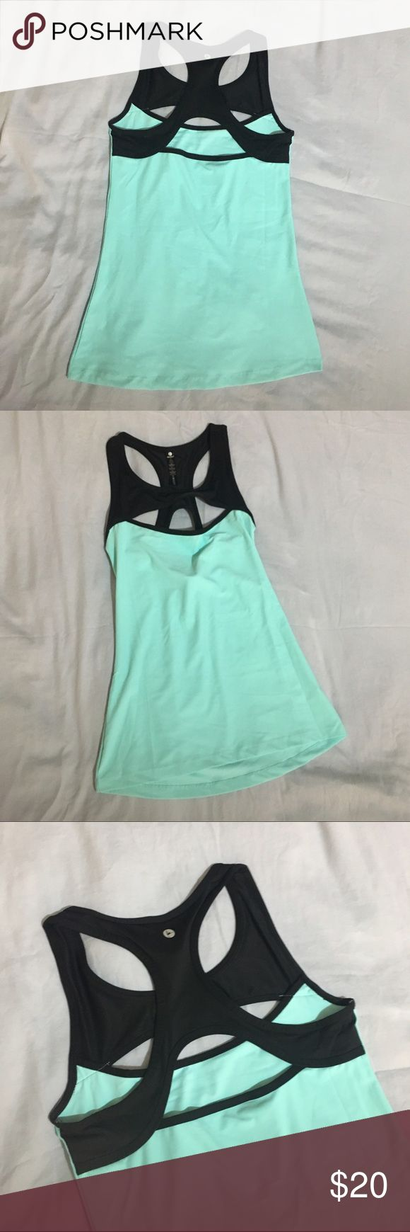 90 Degrees workout top Cute Teal and black workout top from 90 Degrees by Reflex. Size M. Never worn. Perfect condition. Reflex Tops Tank Tops