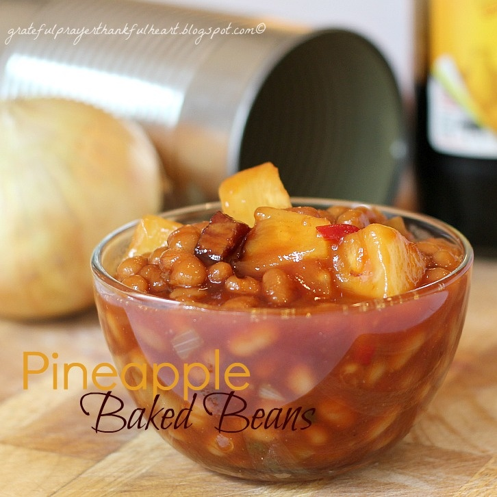 Pineapple Baked Beans: Side Dishes, Brown Sugar, Grateful Prayer, Peppers And Onions, Baking Beans, Green Peppers, Pineapple Baking, Baked Beans, Mr. Beans