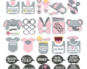 42 Hilarious Girl Baby Shower Photo Booth by CherryImprintDesign