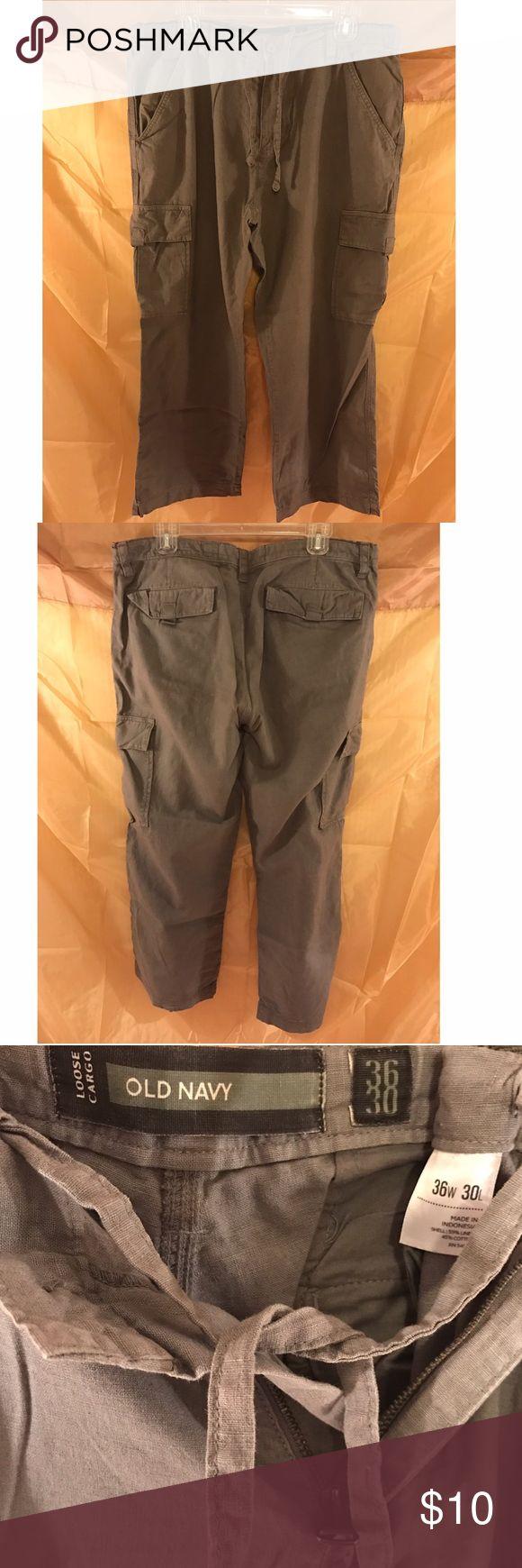 Mens gloves old navy - Mens Old Navy Linen Cargo Pants
