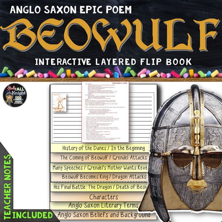 BEOWULF: INTERACTIVE LAYERED FLIP BOOK READING LITERATURE GUIDE ($)