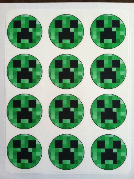 12 Minecraft Edible Images  Cupcake Toppers by EdibleCreativity, $11.99