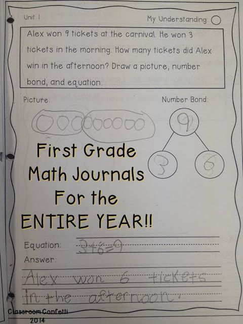 Classroom Confetti: First Grade Math Journal through the Year!
