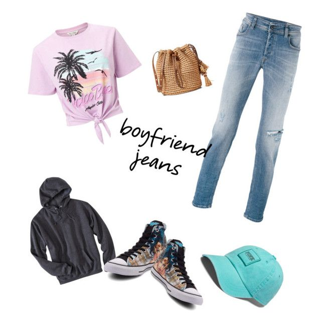 """""""Steal his clothes"""" by bennagefamily on Polyvore featuring Diesel, Miss Selfridge, Converse and boyfriendjeans"""