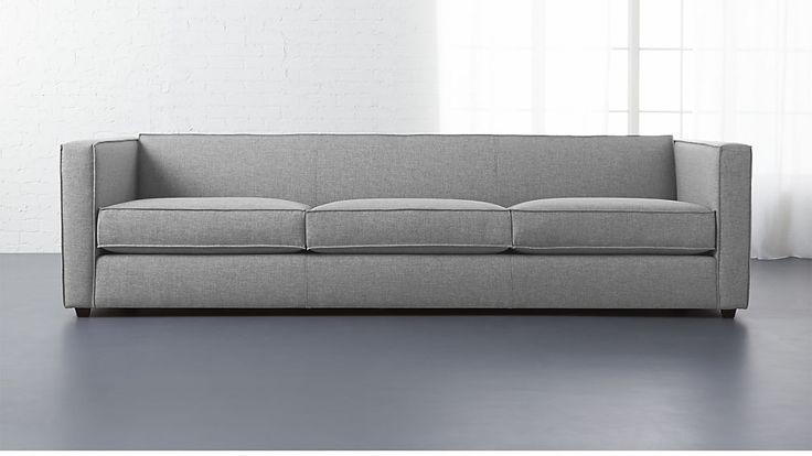 "club 3-seater sofa  CB2 $1499 101""W 34.5""D 26""H"