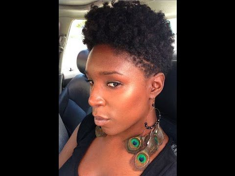 { A Natural Hair Vlog }  HAIRCARE ROUTINE FOR MY SHORT TAPERED TWA