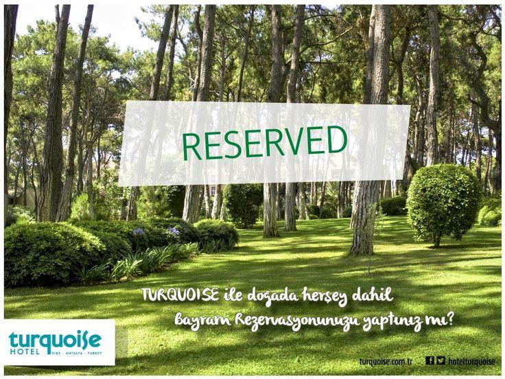 Bayram rezervasyonunuzu yaptınız mı?? :)