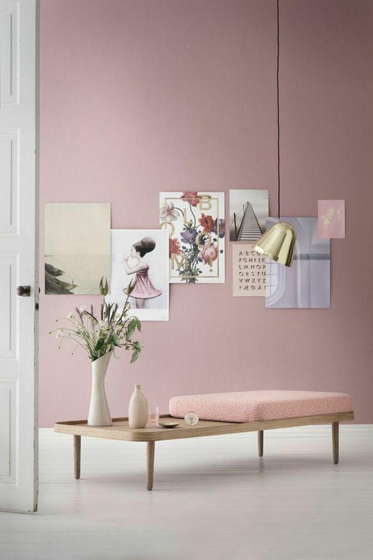 die 25+ besten ideen zu rosa wände auf pinterest | farbpaletten ... - Wohnzimmer Rosa Streichen