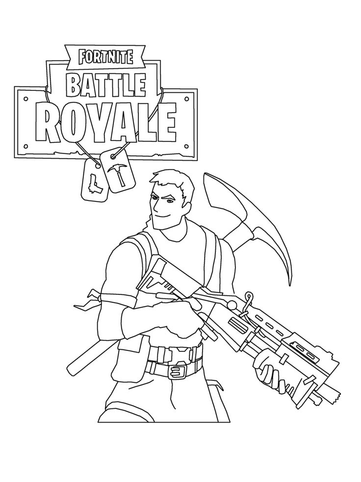 Fortnite Coloring Pages   Print And Color Awesome Top ...