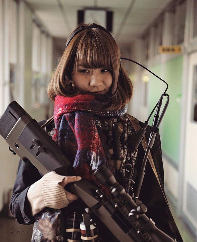 "WEBSTA @ blueswallowtail - No other… "" The Shooter "" High-school girl  #japon #japan #tokyo #pewpew #sniperrifle #pewpewlife  #308win #remington  #sharpshooter #remington700 #M40 #762nato  #308 #m700 #m40a5 #surefire  #sniper #gungirl #jk #U18 #highschool  #highschoolfriends #highschoolgirls  #schoollife #tactical #tacticallife #tacticalgear"
