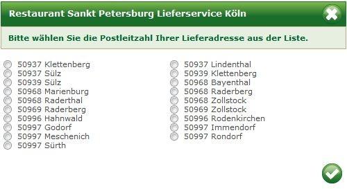 Der russische Restaurant Lieferservice Sankt Petersburg 50969 Köln beliefert Sie in Köln Klettenberg, Lindenthal, Sülz, Bayenthal, Marienburg, Zollstock, Hahnwald, Raderberg, Rodenkirchen, Godorf, Immendorf, Meschenich, Rondorf, Sürth.
