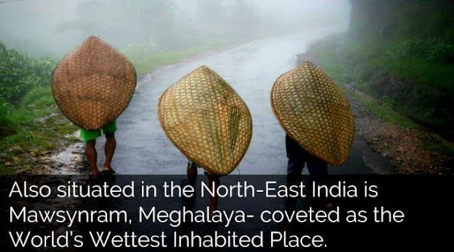 the wettest inhabited place on earth the northeastern state of