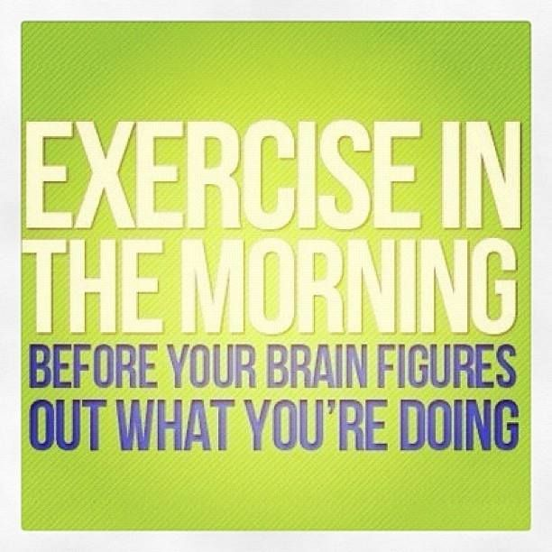 The truth is, the morning might be the only time to get a workout in!  Learn how to become a morning exerciser :-)  #exercise #workout #skinnyms