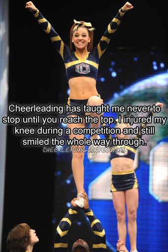 for me i cracked my teeth and kept going, my backspot broke her wrist in warm-ups but didnt tell anyone because she didnt want to let us down
