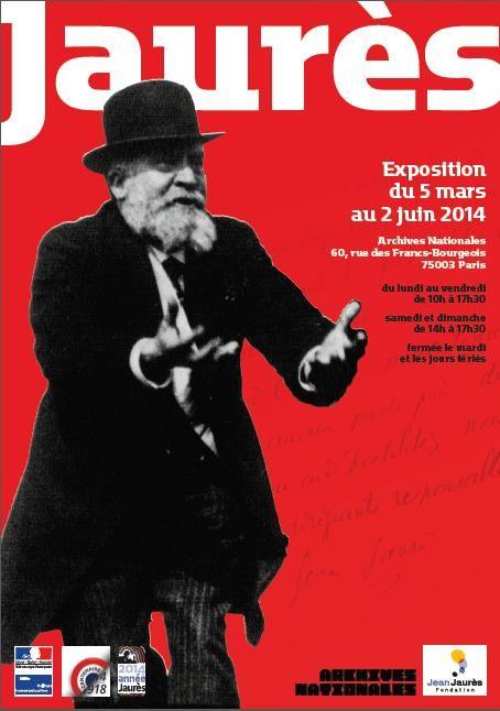 Affiche de l'exposition Jaurès  © La fabrique créative