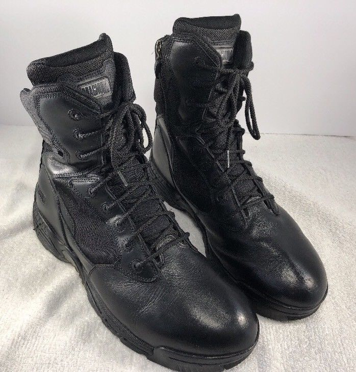 Magnum Mens Stealth Force 8.0 Black Leather Tactical Safety Toe Boots size 14  | eBay