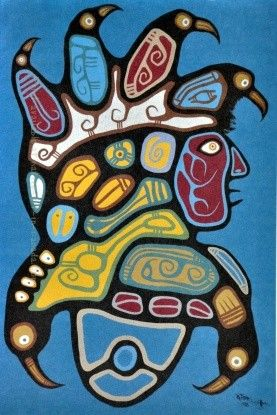 Art card image by Roy Thomas - untitled - available from Native Art in Canada.
