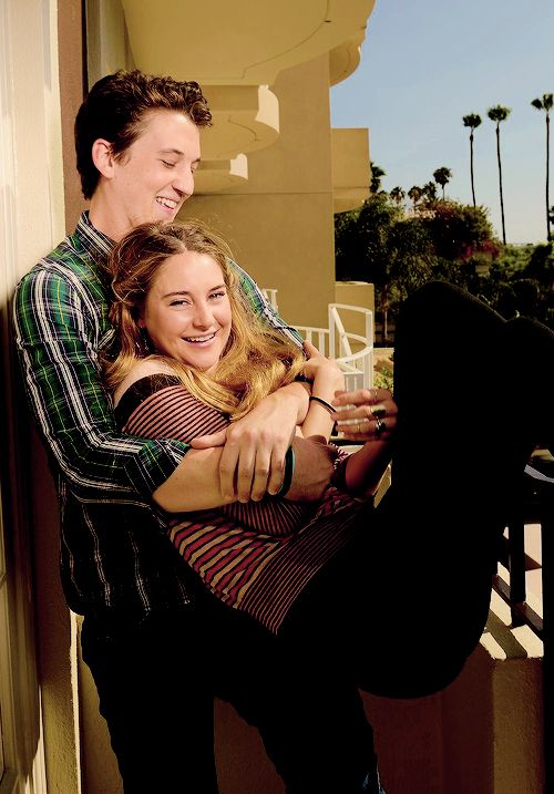 shailene woodley and miles teller. so cute im crying