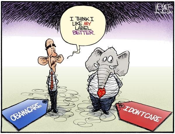 Republican IDONTCARE: Chris Weyant, Tough Choice, Health Care, Obamacar Cartoon, Kaiser Health, Politics Cartoon, Obama Care, Health News, Obama Healthcare