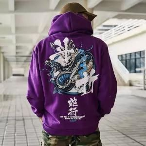 Japanese Casual Sweatshirts Streetwear Men Women Pullover em