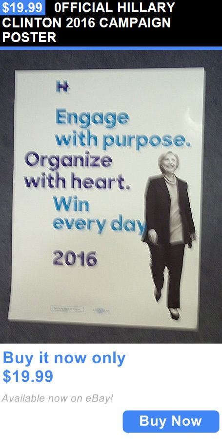 Hillary Clinton: 0Fficial Hillary Clinton 2016 Campaign Poster BUY IT NOW ONLY: $19.99