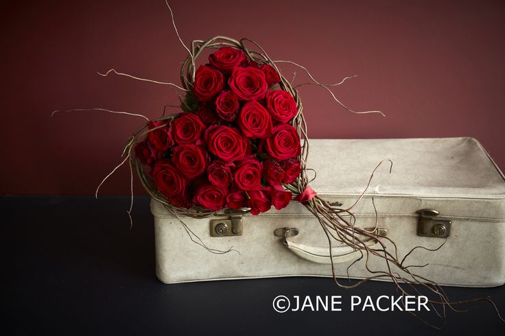 What could be more romantic than a heart shaped bouquet? How about a heart shaped bouquet bursting with divine red Roses. Differently sized and toned and held together in a delicately crafted willow frame.£160 at http://www.janepackerdelivered.com/serengeti/
