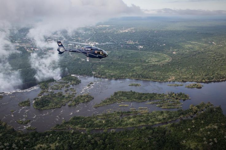 Helicopter rides over the Victoria Falls