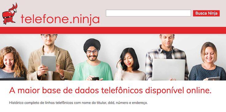"""O site é real e não foi criado para espalhar ataques de phishing ou vírus. Conhecido como """"telefone ninja"""", revela o número do telefone e o endereço de pessoas ou empresas por meio da ferramenta de busca.   #Cibersegurança #Segurança de Dados"""