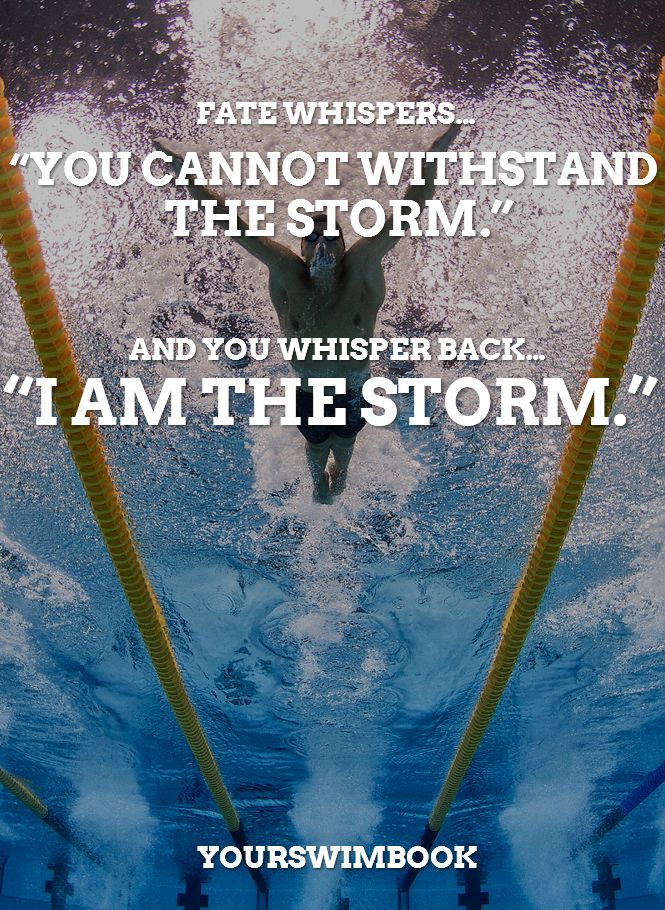 Motivational posters for swimmers: