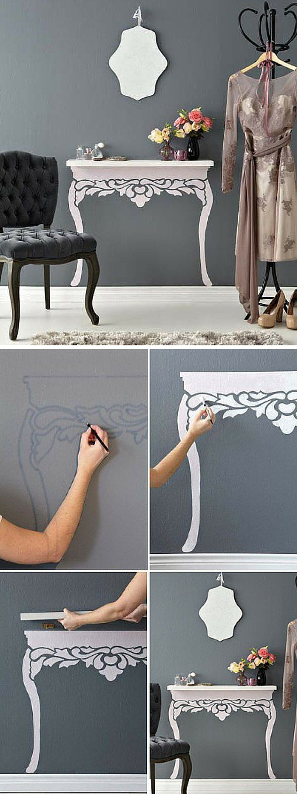 Check out the tutorial: #DIY Floating Shelf Wall Art #crafts #decor