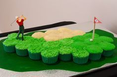 Golf Course Cupcake Cake from Cath's Cookery Creations! | www.cathscookerycreations.com