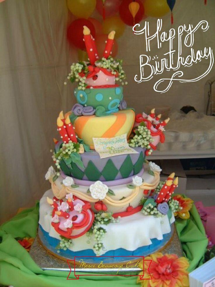 One Big Birthday Cake done by Reva Alexander-Hawk for Merci Beaucoup Cakes, #reva, #caljava, #birthday