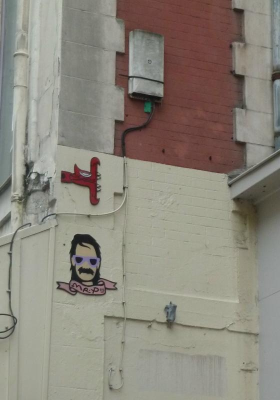 Les tags de Mister P sont visibles un peu partout dans Lille, il suffit d'ouvrir les yeux ;-) et de vous laisser transporter dans son univers les explications ici : http://www.streetlove.fr/interview/mister-