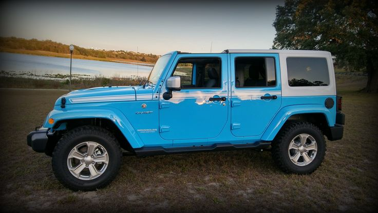 Yep, we did it... got a 2017 Jeep Wrangler 4×4 Unlimited Edition in Vivid Blue, special edition for my son!  Senior year in college, he deserves it!  :-)