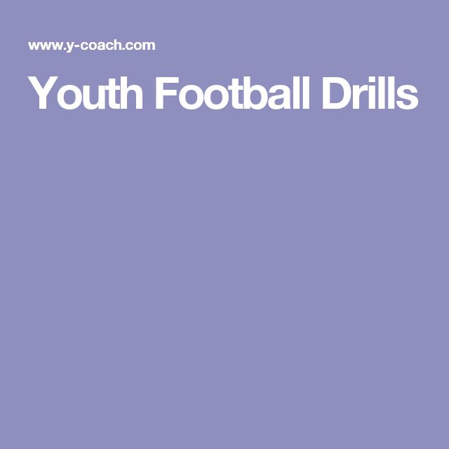 Youth Football Drills