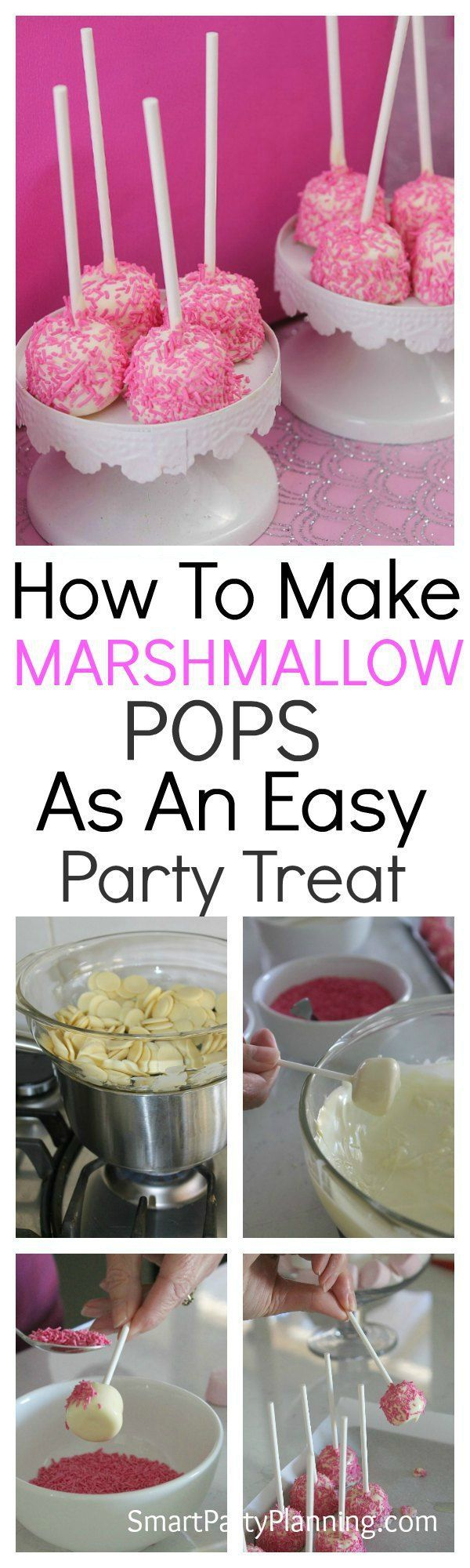 How to make marshmallow pops the easy way using a simple step by step tutorial. Marshmallow pops are perfect for birthday and other celebrations and are a treat that the kids will love. This will be a DIY candy dessert that you will come back to time and